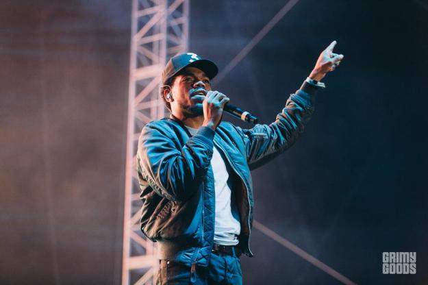 Chance the Rapper at Camp Flog Gnaw shot by Michael Espeleta