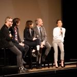 Matt Berninger, Bryce Dessner, Mike Mills, Carrie Brownstein, and Alicia Vikander at the Orpheum Theatre shot by Danielle Gornbein