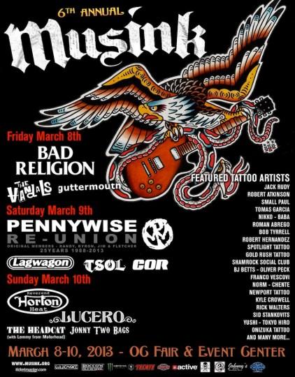 Musink line-up 2013