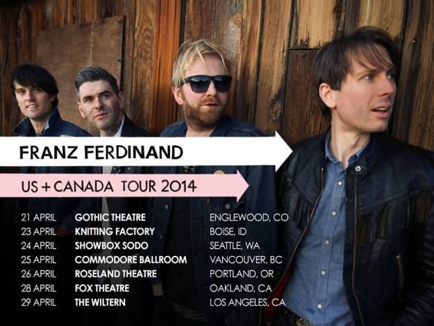 Franz Ferdinand Tour Dates 2014