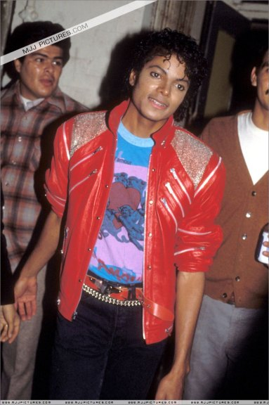 Micheal jackson red leather jacket beat it