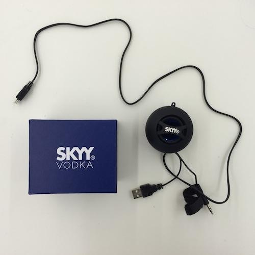 skyy vodka bluetooth speakers