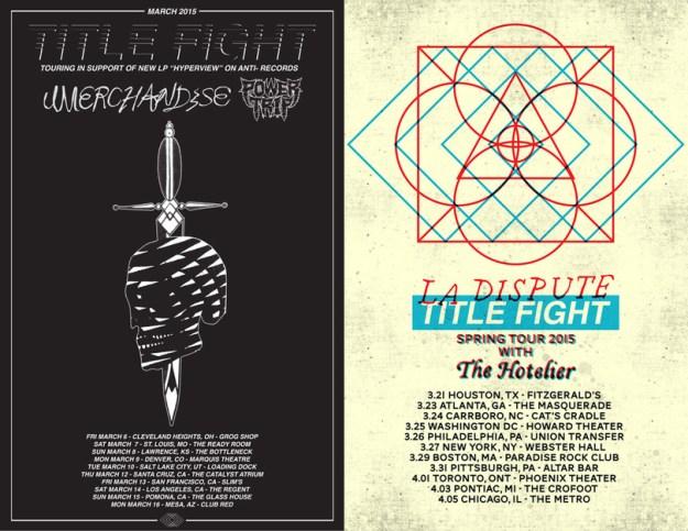 Title Fight Tour Flyer