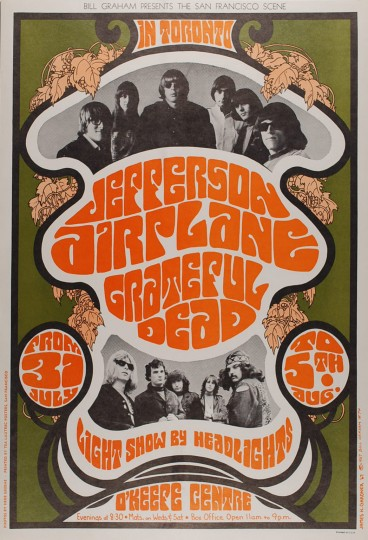 vintage concert poster