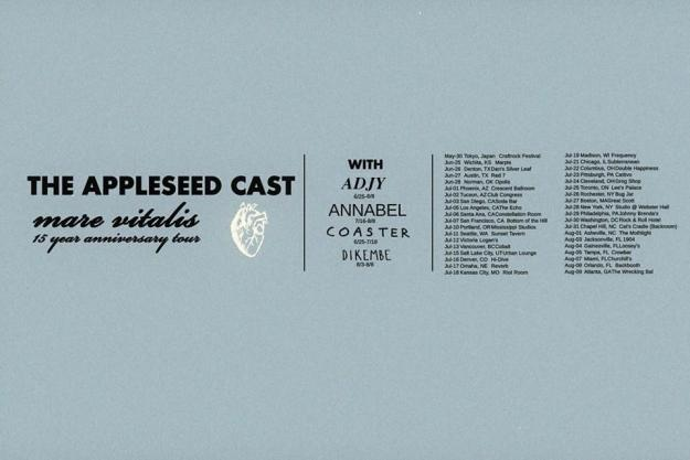The Appleseed Cast Tour Flyer