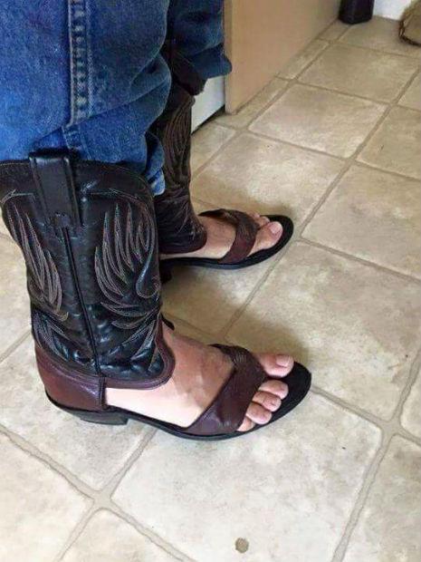 redneck boot sandals cowboy boot sandals