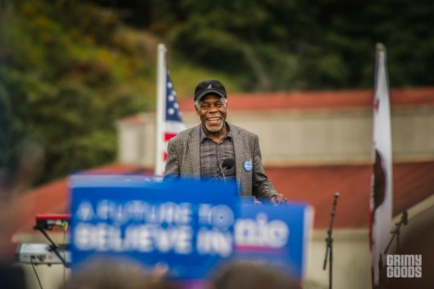 Danny Glover Bernie Sanders Rally in San Francisco, June 6, 2016