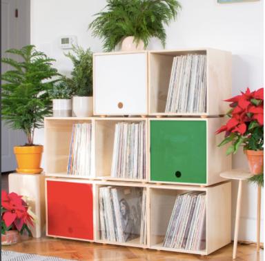 Simple Wood Goods vinyl records storage cube
