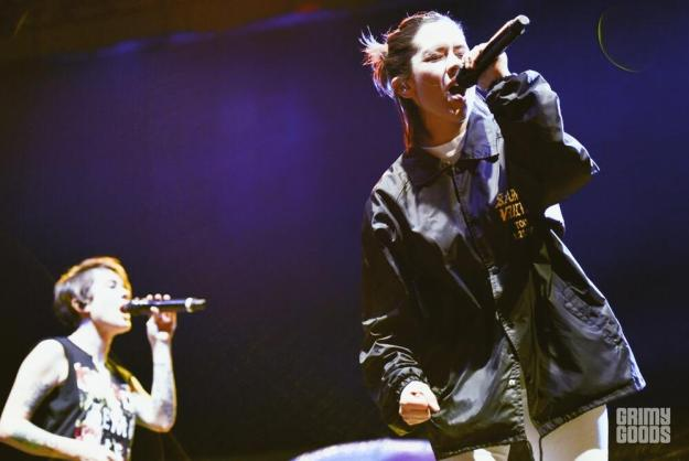 Tegan and Sara at High and Low Fest shot by Danielle Gornbein