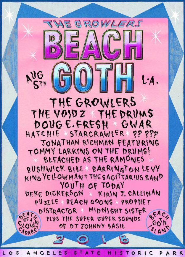 beach goth 2018 lineup