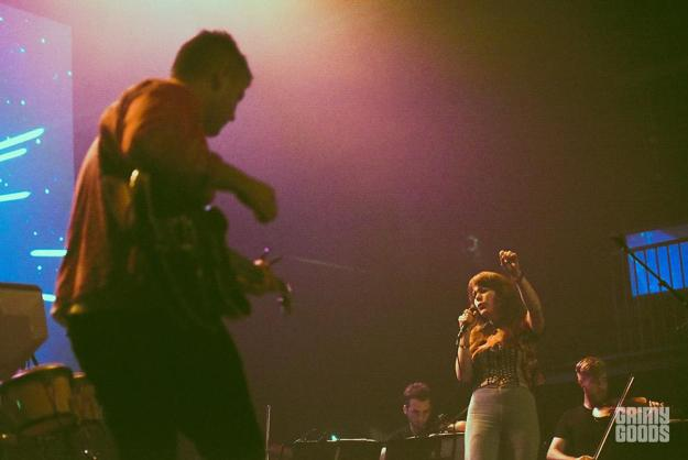 Rostam with Jenny Lewis at the Fonda Theatre