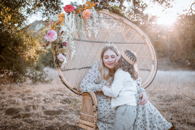Jessica Rotter with her son, Miles, at King Gillette Ranch on November 14, 2020
