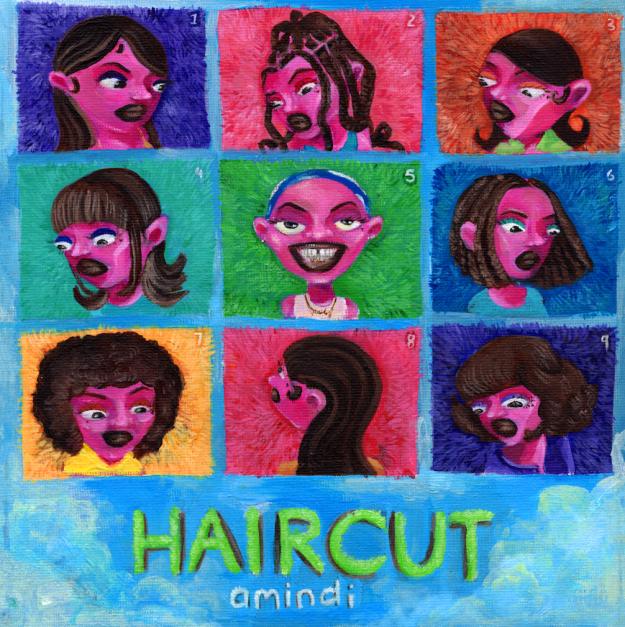 Aminid hair cut single art work