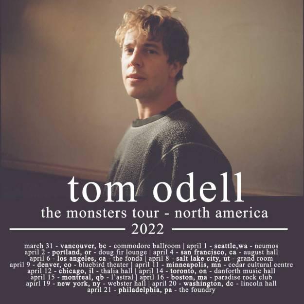 tomo odell 2022 tour dates