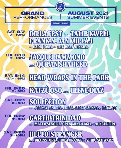 Grand Performances 2021 free summer concerts in la