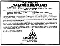 Vacation Home Lot Draw 1980