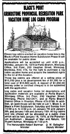 Vacation Home Log Cabin Draw 1978