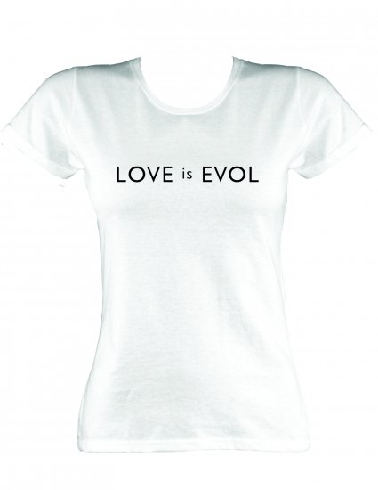 Love Is Evol White Skinny Fit T Shirt Buy Online At