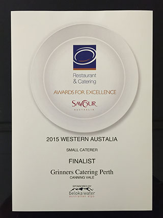 Grinners Catering Award 2015
