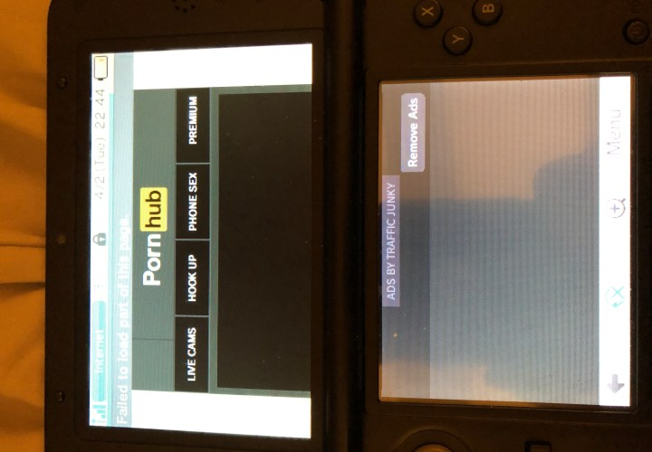 Ever Wonder What Pornhub Looks Like on a Nintendo 3DS?