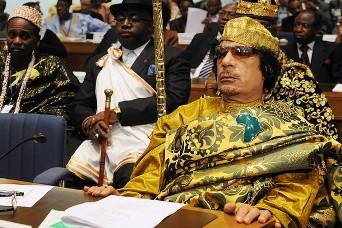 Mouammar Kadhafi, nouveau président en exercice de l'Union Africaine
