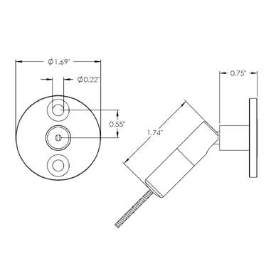 DG-CC-JU-APLT-SAT: Jointed Cable Coupler with Anchor Plate