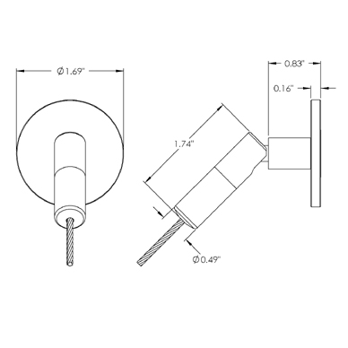 DG-CC-JU-CPLT-SAT: Jointed Cable Coupler with Cover Plate