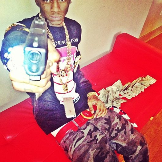 Soulja Boy w/ gun, via Twitchy