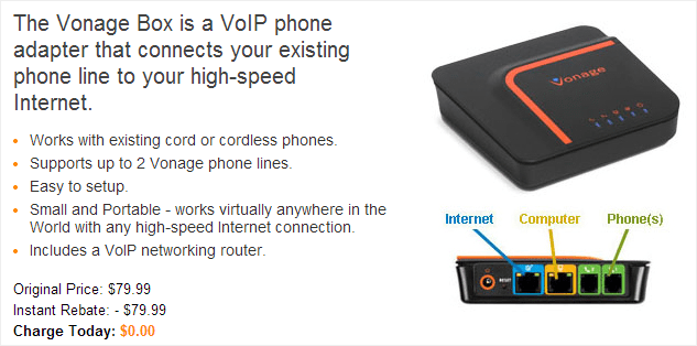What is the Vonage phone adapter?