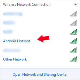 Android Mobile Hotspot Active