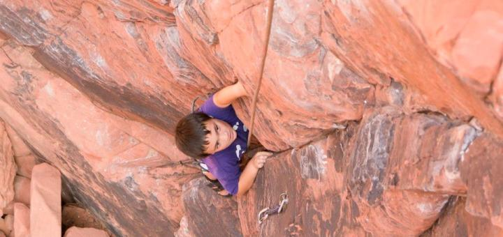 Rock climbing at Red Rock, photo courtesy of Tyler King