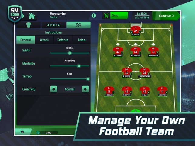 soccer manager 2020 example