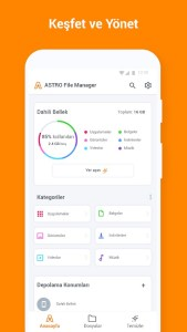 astro file manager android dosya yöneticisi
