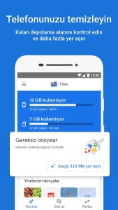 google files android dosya yöneticisi