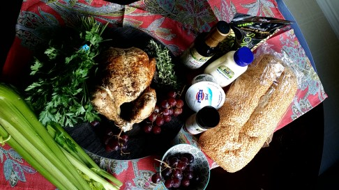 Simple Rotisserie Chicken Salad with Organic Red Grapes