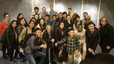 Karen Dubinsky: With President's Society Students