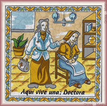 AQUÍ VIVE UNA DOCTORA