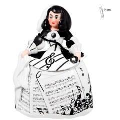 Menina con diseño musical