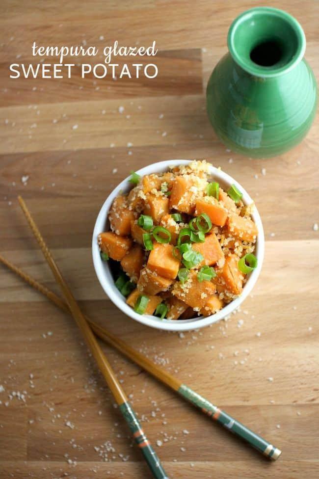 tempura glazed sweet potatoes - Grits & Chopsticks