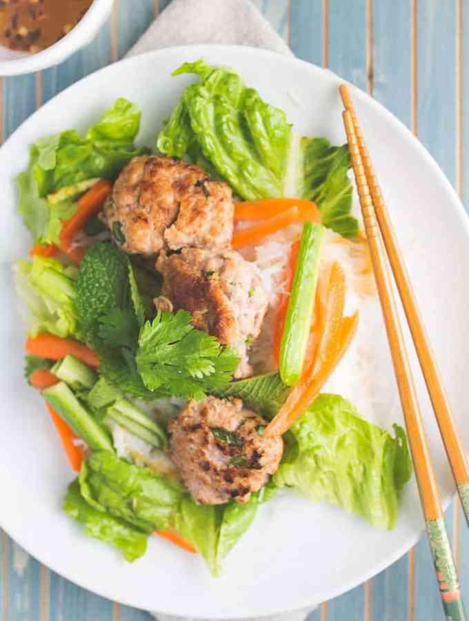 bun cha: vietnamese pork noodle salad