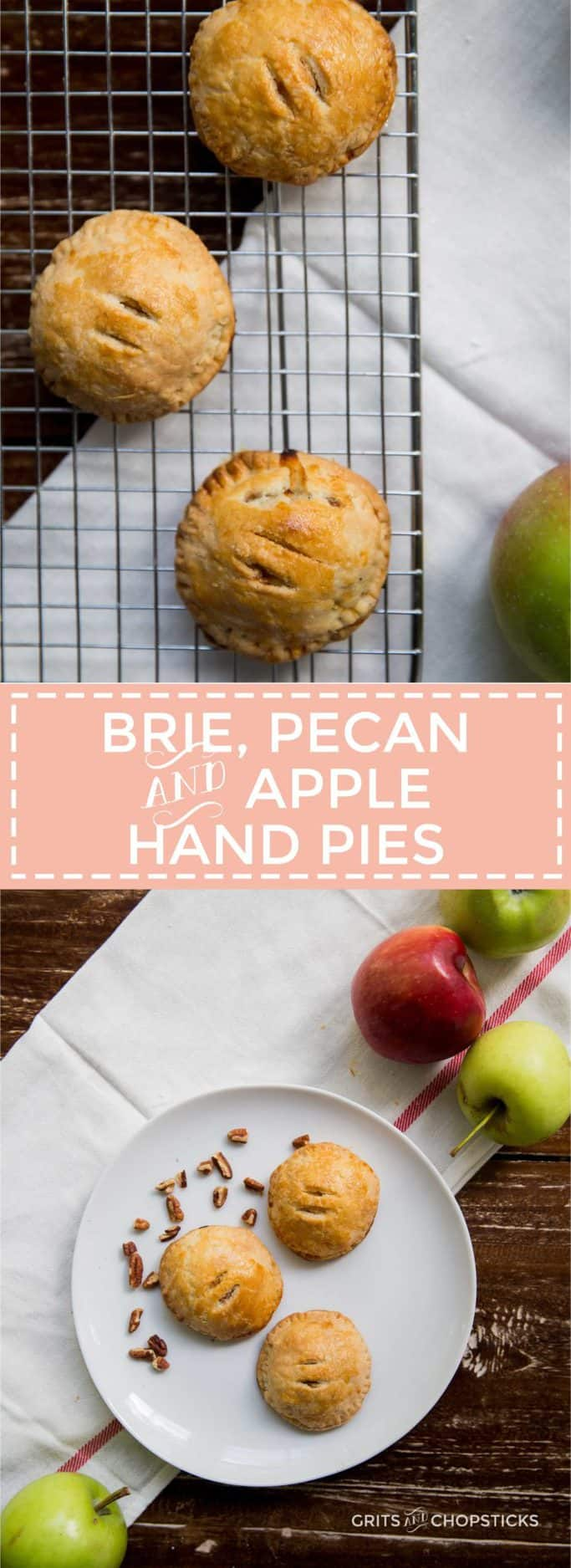 Brie, pecan and apple hand pies make an adorable fall treat