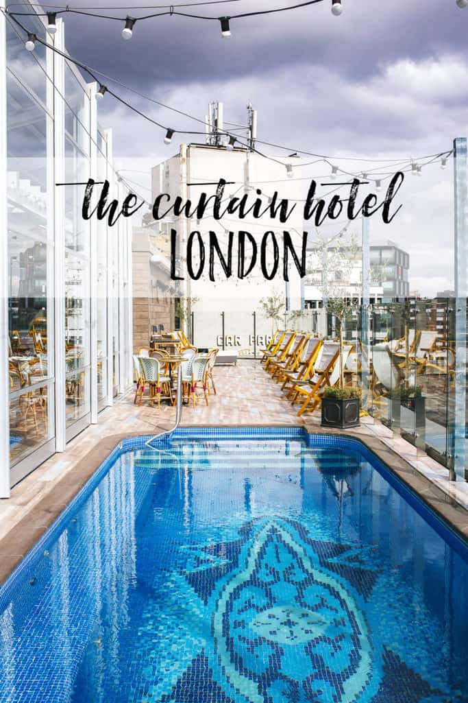 poolside dining at the curtain hotel