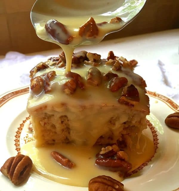 Southern Pecan Praline Cake Grits And Pinecones