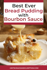 This traditional bread pudding with bourbon sauce is the perfect holiday dessert. It's decadent and delicious and you won't believe how easy it is to put together. It's based on a recipe from an old New Orleans restaurant that's well-known for having some of the best bread pudding in town.