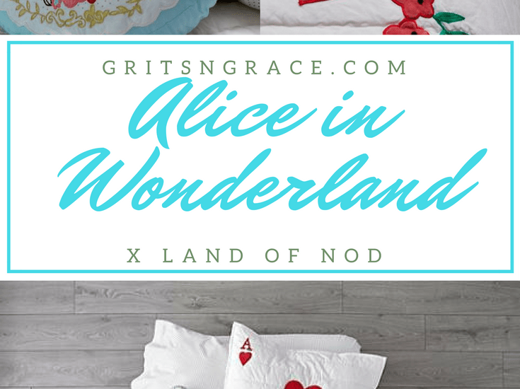 Alice in Wonderland Bedding Collection from Land of Nod // www.gritsngrace.com