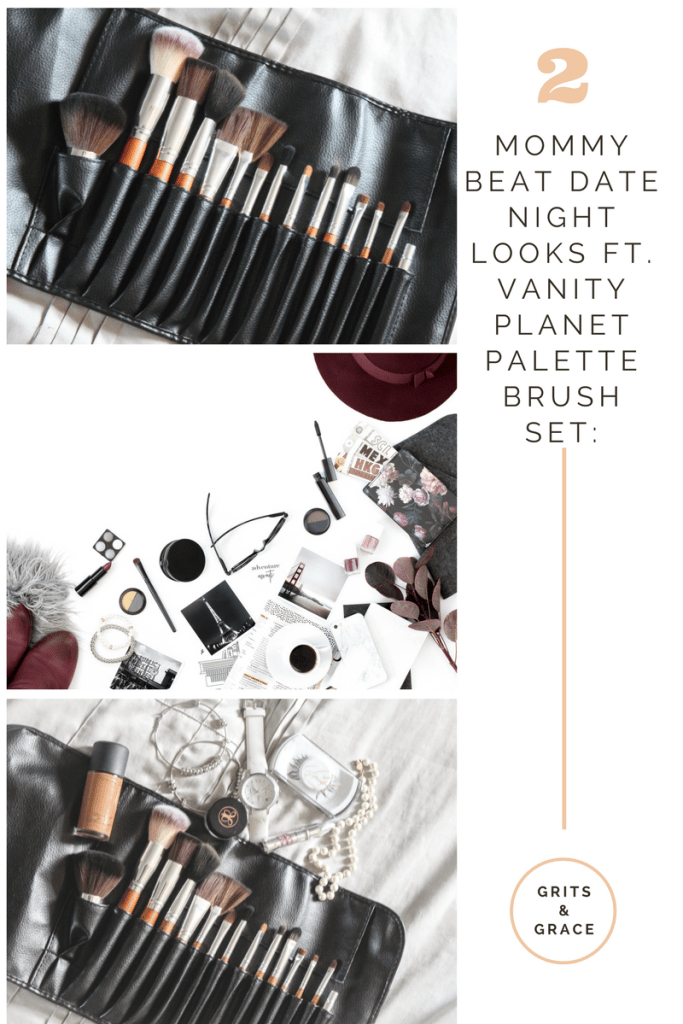 Mommy Beat: Date Night Look ft. the Vanity Planet Palette Brush Set // www.gritsngrace.com