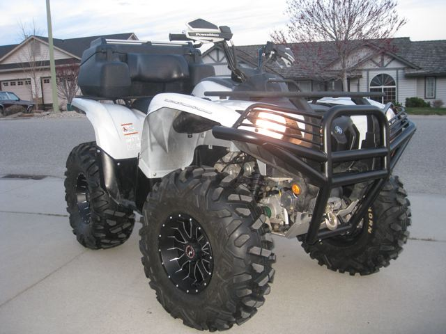 ADDED RACELINE WHEELS AND MOOSE BUMPER TONIGHT  Yamaha Grizzly ATV Forum