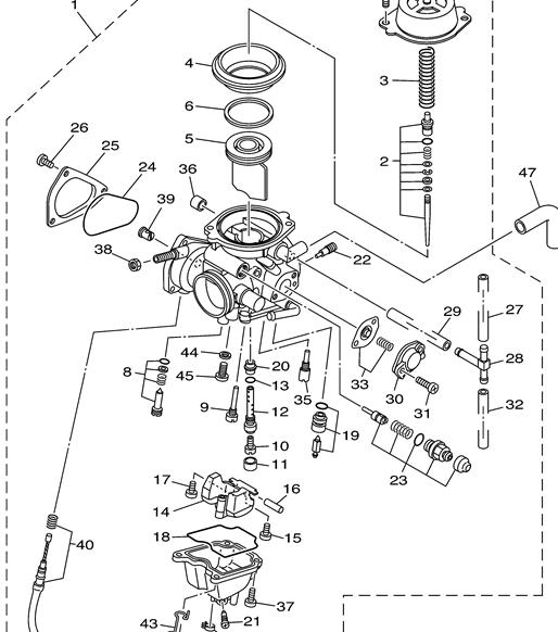 Yamaha Grizzly Carburetor Diagram, Yamaha, Free Engine