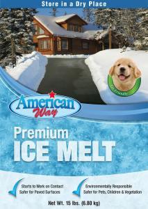 American Way Premium Pet Friendly Ice Melt - 15 lbs
