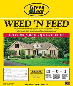 Green Leaf Weed 'N Feed - 15 lbs